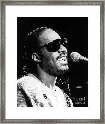 Stevie Wonder 1986 Framed Print by Chris Walter