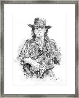 Stevie's Blues Framed Print