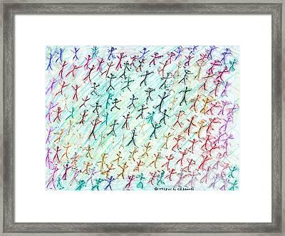 Stickmen Seventeen Days After Nine Eleven Framed Print by Carl Deaville