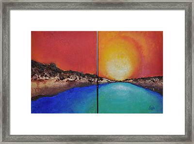 Stilbaai Sunset Framed Print