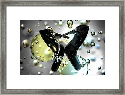 Stilettos Night Out Party Shoes Framed Print by Linda Matlow