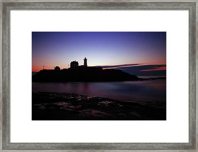 Still Dawn Cape Neddick Framed Print by Rick Berk