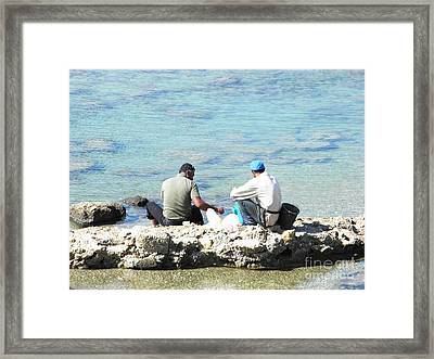 Still Fishing On The Sea Of The Galilee Framed Print