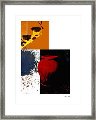 Still Life Collage Framed Print by Xoanxo Cespon