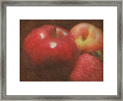 Still Life Fruit Framed Print by Cindy Wright