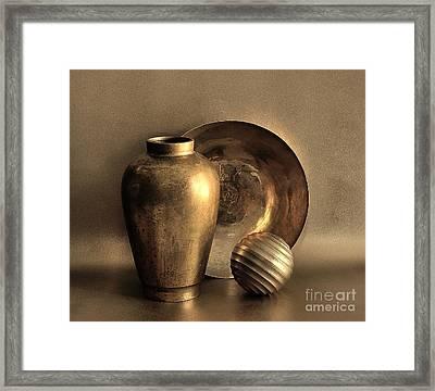Still Life In Gold Framed Print by Mark Fuller