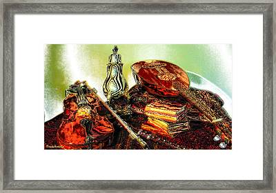 Still Life. Musical Instruments.  Framed Print by Tautvydas Davainis