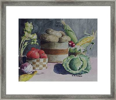 Still Life Number Four Framed Print by W R  Hersom