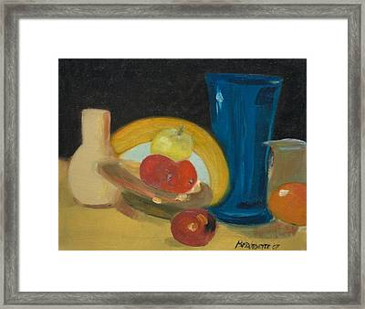 Still Life Of Fruit Framed Print