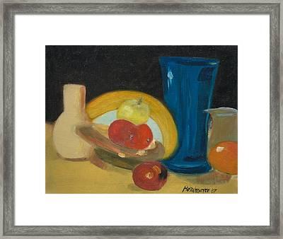 Still Life Of Fruit Framed Print by Bernadette Krupa