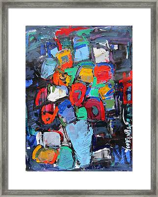 Still Life On Dark 05 Framed Print