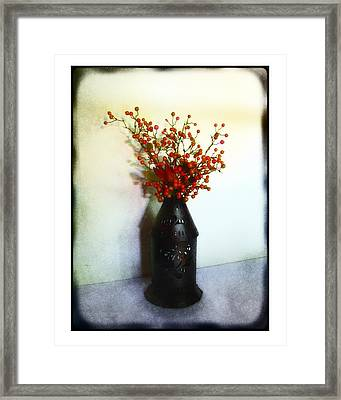 Still Life With Berries Framed Print by Judi Bagwell
