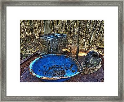 Still Life With Blue Plate Special Framed Print by William Fields