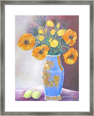 Still  Life With Blue Vase Framed Print