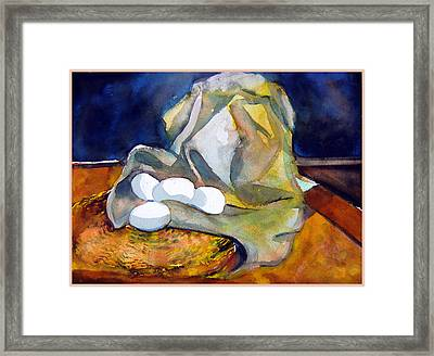Still Life With Eggs Framed Print by Mindy Newman