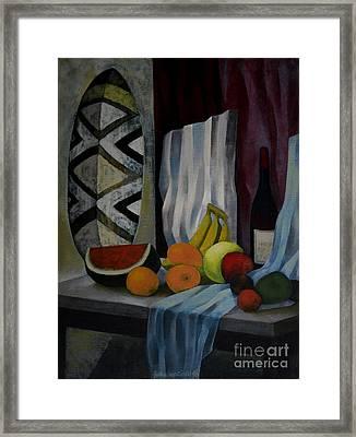 Still Life With Fruit Framed Print by Jukka Nopsanen