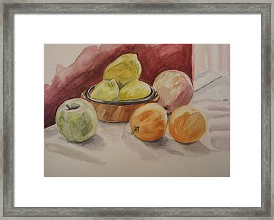 Still Life With Fruits Framed Print by Kate Partali