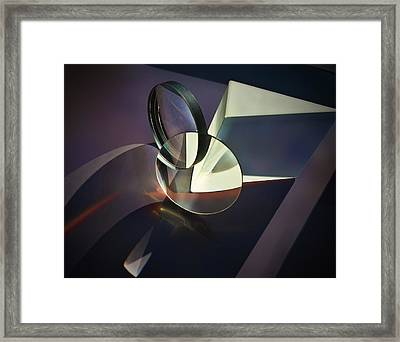 Still Life With Glass Framed Print