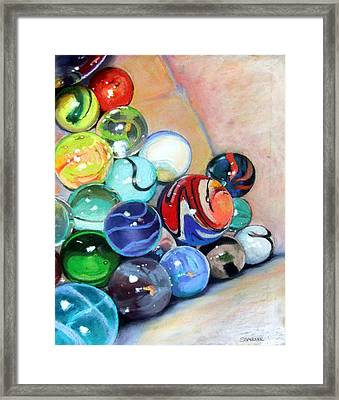 Still Life With Marbles 07 Framed Print by Sue Gardner