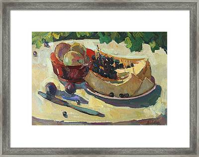 Still Life With Melon Framed Print