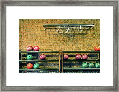 Still Life With No Glow In Dark Balls Framed Print by E. Treffly Coyne
