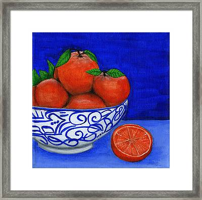 Still Life With Oranges Framed Print