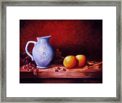 Still Life With Oranges  Framed Print by Gene Gregory