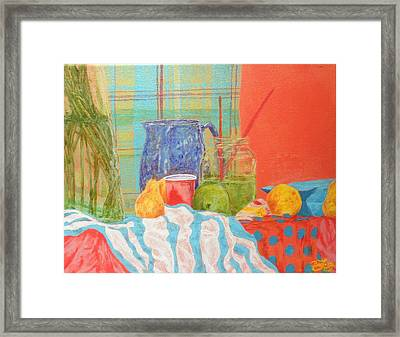 Still Life With Pears Framed Print by Ben Leary