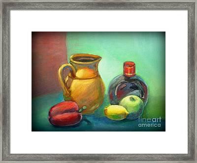 Still Life With Pepper Framed Print by Tatjana Andre