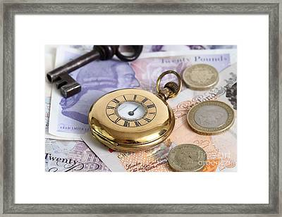 Still Life With Pocket Watch, Key Framed Print by Photo Researchers