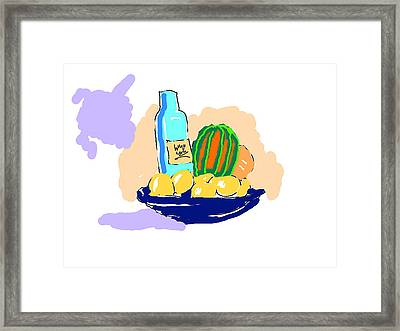 Still Life With Purple Cloud Framed Print