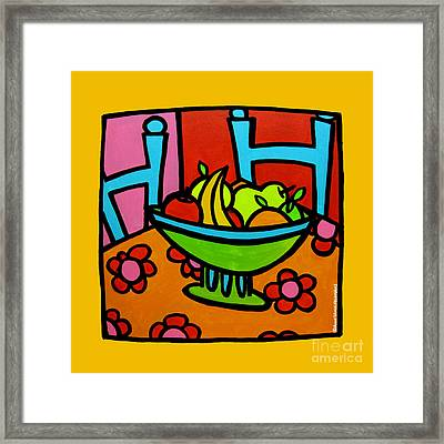 Still Life With Red And Pink Framed Print by Anne Leuck