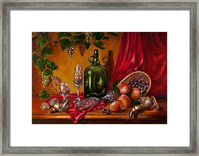 Still Life With Snails Framed Print by Roxana Paul
