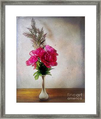 Still Life With Texture Framed Print by Judi Bagwell