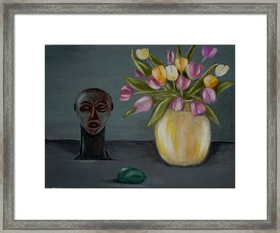 Still Life With Tulips Framed Print by Joseph Ferguson