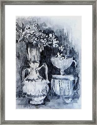Still Life With Vases Framed Print by Jolante Hesse