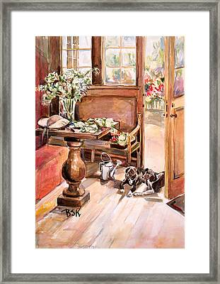 Framed Print featuring the painting Still Moment by Becky Kim