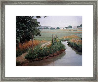 Still Water-irrigation Framed Print by Victoria  Broyles