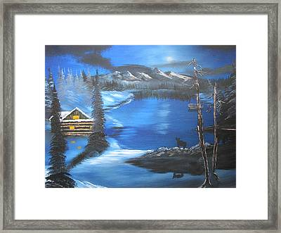 Stillness At Midnight Framed Print by John Morris