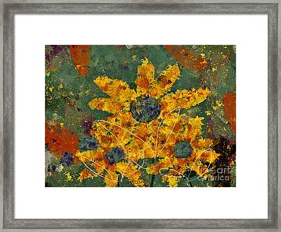 Stimuli Floral - S04ct01 Framed Print by Variance Collections