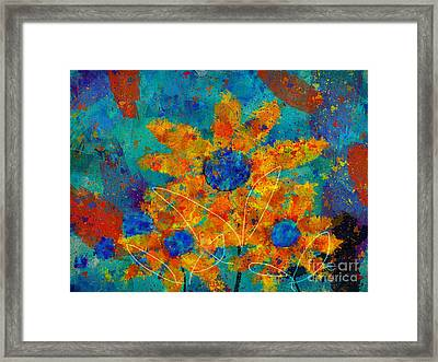 Stimuli Floral -s01t01 Framed Print by Variance Collections
