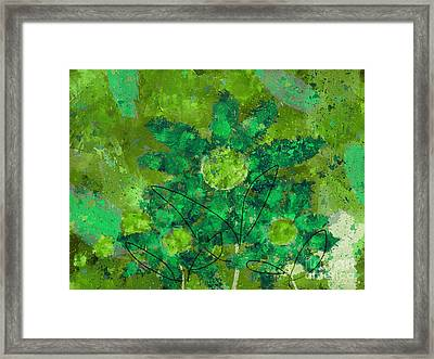Stimuli Floral -s11bt01 Framed Print by Variance Collections