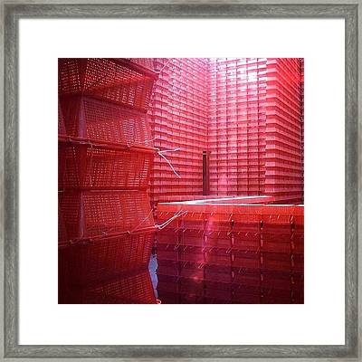 Stimulus Package..#red #crates Framed Print by A Rey