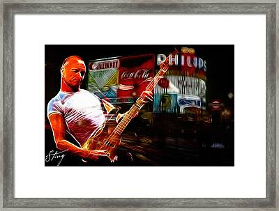 Sting In Concert Framed Print by Steve K