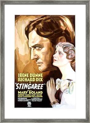 Stingaree, Richard Dix, Irene Dunne Framed Print by Everett