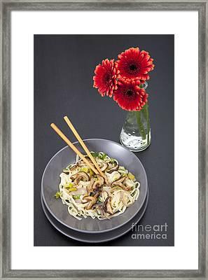 Stir Fry Dinner Framed Print by Charlotte Lake