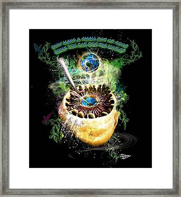 Stir The World Framed Print