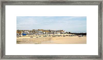 St.ives Bay.cornwall Framed Print by Karen Grist