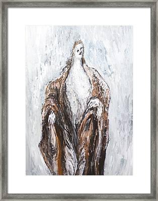 St.john The Baptist Preaching In The Wilderness Framed Print by Kazuya Akimoto
