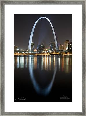 St.louis Arch Reflection Framed Print
